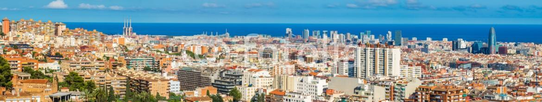 86287198 – Ukraine – Panoramic view of Barcelona