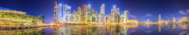 86348930 – Ukraine – Singapore Skyline and view of Marina Bay