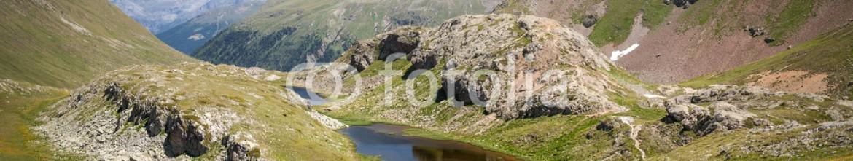 87069926 – Italy – Val Viola (Bormio – IT) – prato fiorito con laghetto