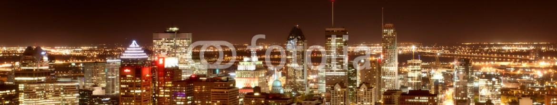 87121525 – Canada – Panoramic Photo Montreal city night Photo