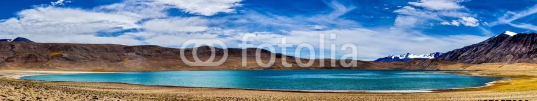 87157238 – Belarus – Panorama of Himalayan lake Kyagar Tso, Ladakh, India