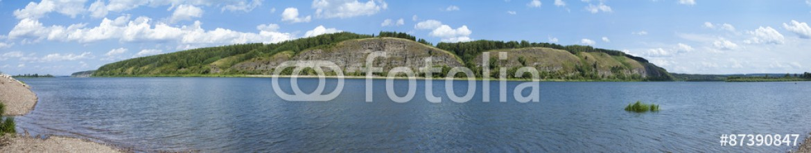 87390847 – Russian Federation – Stone island on the Siberian river Tom