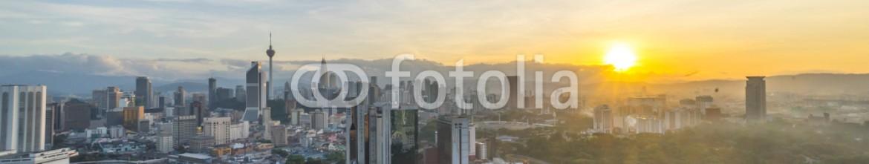 87587333 – Malaysia – Beautiful sunrise at Kuala Lumpur city centre