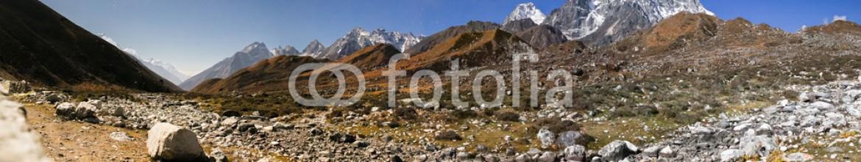 87680781 – Nepal – Night mountains Himalaya panorama.
