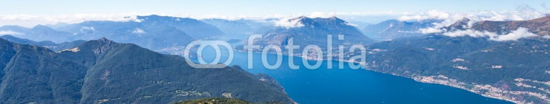 88390795 – Italy – Vista aerea del Lago di Como verso Bellagio con scorcio sul Lago di Lugano (CH)