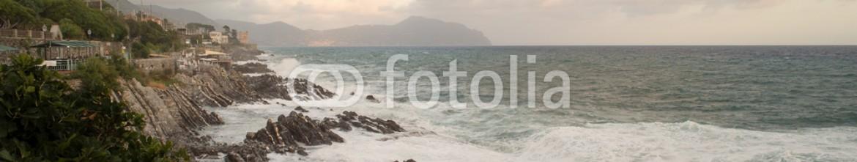 88620379 – Italy – Mareggiata dalla Passeggiata di Nervi (Genova)