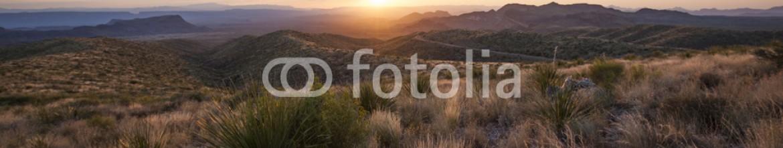 88752414 – United States of America – Sunset at Sotol Vista Overlook, Big Bend National Park