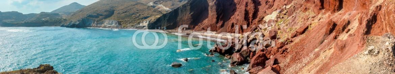 89057172 – Greece – Panorama of the Red Beach on Santorini