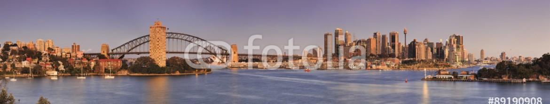 89190908 – Australia – Sydney Waverton Pink Panorama