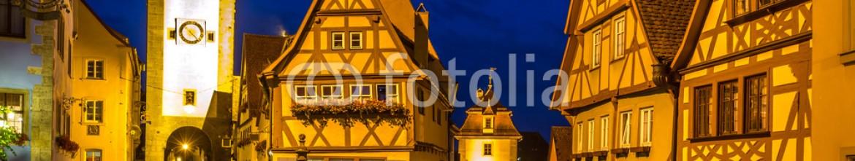 89206772 – Germany – Rothenburg ob der Tauber Germany at dusk