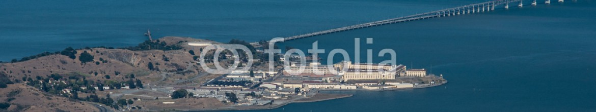 89393725 – United States of America – San Quentin State Prison panorama from Mount Tamalpais
