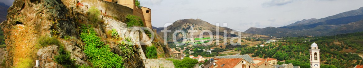 89432877 – Ukraine – Corte – impressive medieval town in Corsica, panoramic view with