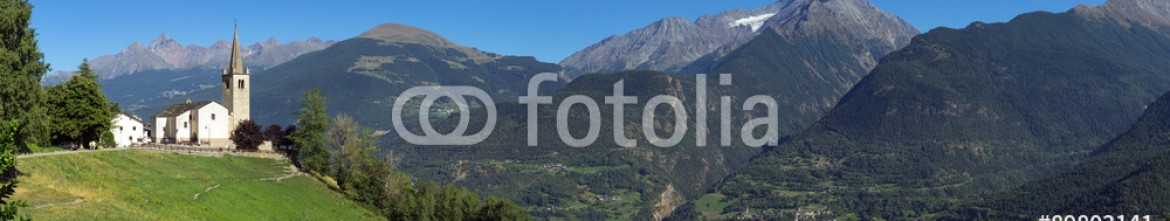 89803141 – Italy – Aosta valley summer panorama. Color image