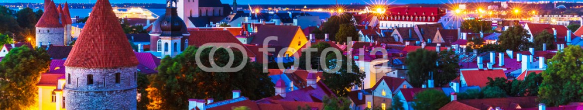 89876743 – Estonia – Evening view of the Old Town in Tallinn, Estonia