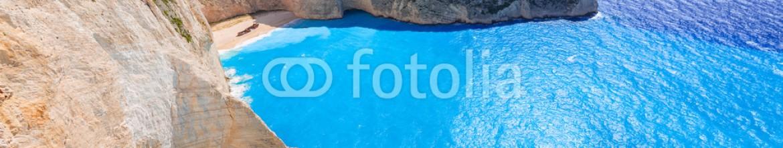 90170441 – Greece – Panorama of Navagio Beach (Shipwreck beach) on Zakynthos Island, Greece