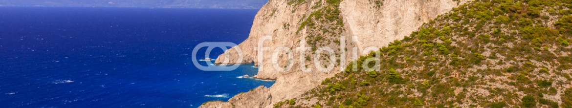 90173793 – Greece – Beautiful cliffs near Navagio Beach on Zakynthos Island, Greece