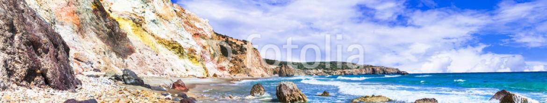 90474318 – Ukraine – unique beautiful beaches of Greek islands- Milos (Fyriplaka beach)