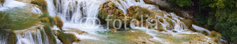 90719524 – Croatia – krka park  big waterfall  in croatia