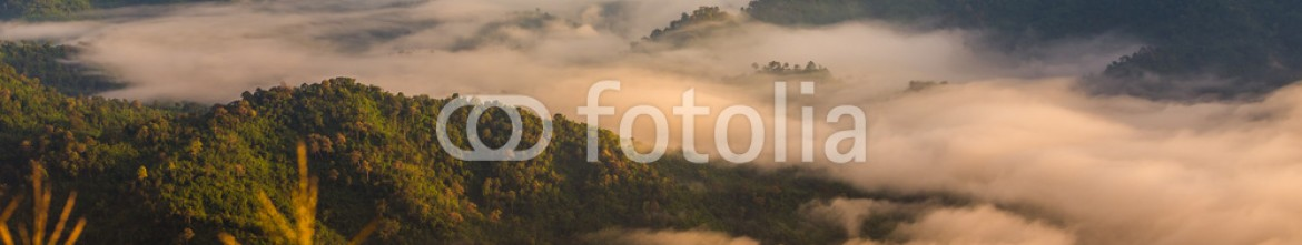 90989110 – Thailand – Misty dawn over mountains of Thailand