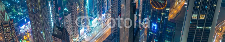91031268 – Azerbaijan – Panorama of night Dubai during sunset