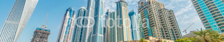 91032051 – Azerbaijan – Dubai – AUGUST 9, 2014: Dubai Marina district on August 9 in UAE