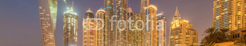 91281402 – Azerbaijan – Dubai – JANUARY 10, 2015: Marina district on January 10 in UAE,