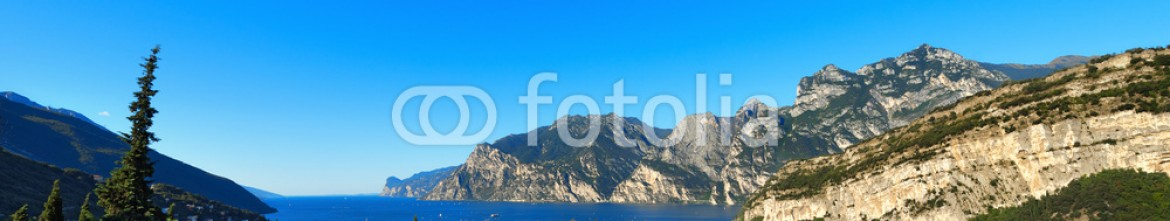 91432568 – Italy – Torbole and Garda Lake – Trentino Italy / Lago di Garda (Garda Lake) of glacial origin, Sarca river and Torbole, small town in Trentino Alto Adige, Italy, Europe
