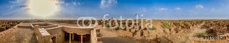 91590320 – India – Panoramic view of Kuldhara (An Abandoned & Cursed Village of Rajasthan