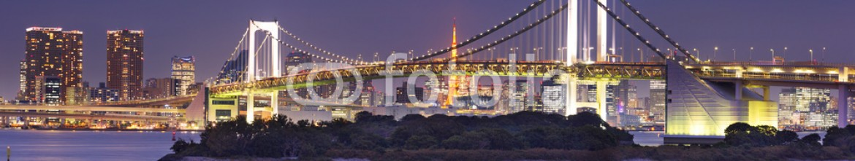 91908850 – Japan – Tokyo Rainbow Bridge in Tokyo, Japan at night