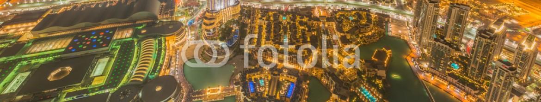 91971434 – Azerbaijan – Panorama of night Dubai during sunset
