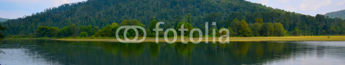 92248508 – United States of America – Lake scene with reflections of the hills and sky