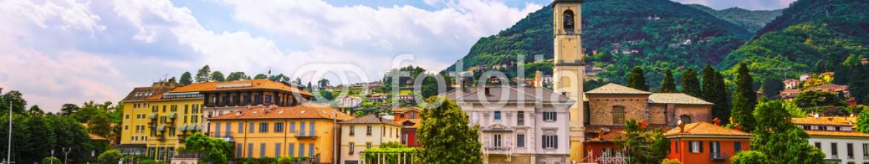 92385641 – Italy – Cernobbio town, Como Lake district landscape. Italy, Europe.