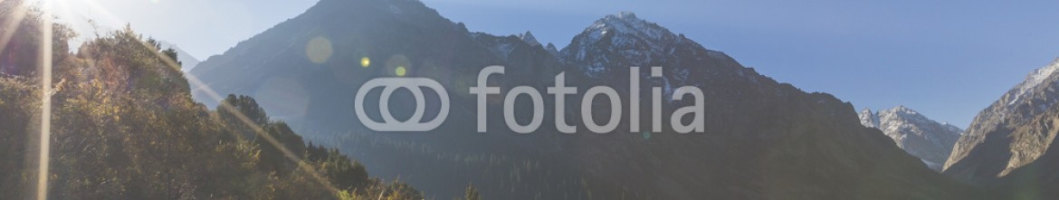 92594876 – Kirghizistan – The panorama of mountain landscape of Ala-Archa gorge in the sum