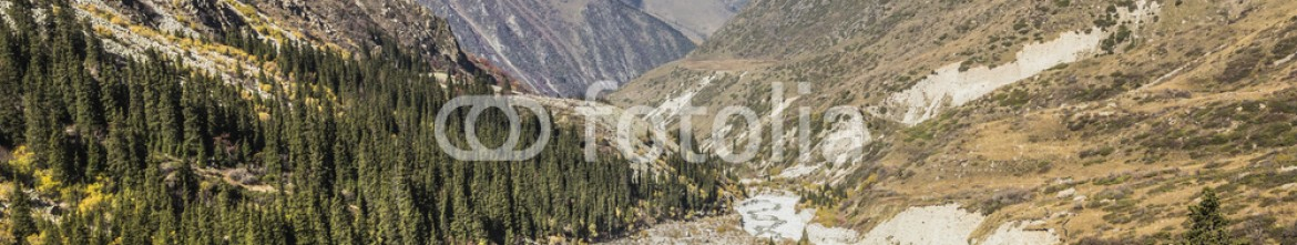 92595089 – Kirghizistan – The panorama of mountain landscape of Ala-Archa gorge in the sum