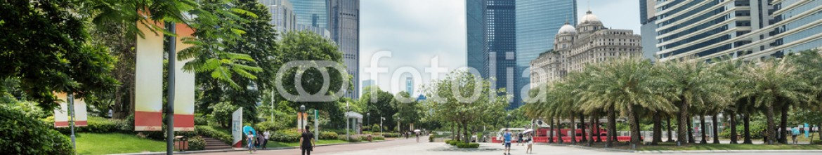 92761600 – China – modern square and skyscrapers