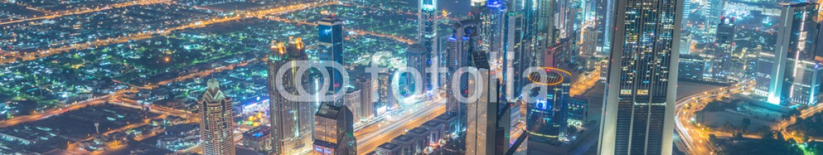 92848398 – Azerbaijan – Panorama of night Dubai during sunset