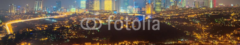 92861896 – Ukraine – Panorama of Istanbul and Bosporus at night