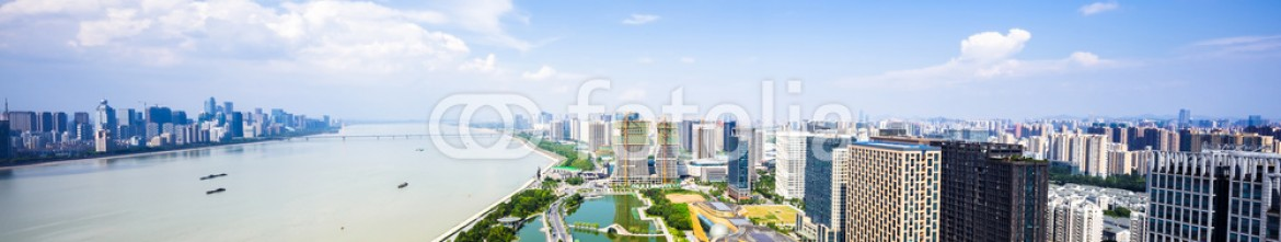 92912252 – China – panorama of skyscrapers and a river