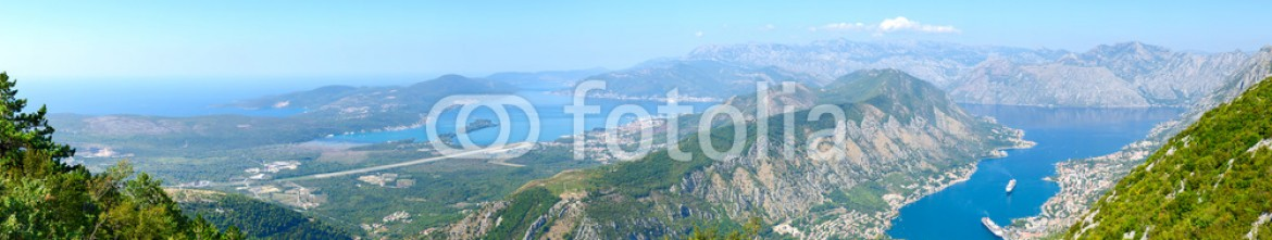 92923038 – Belarus – Panoramic view from above of the Kotor and Tivat Bay, Montenegro