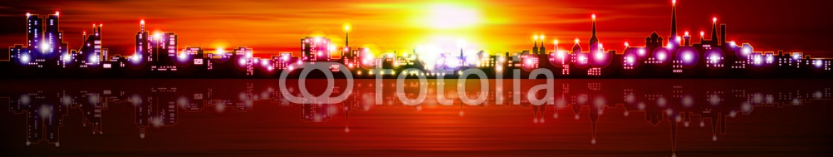 93005663 – Estonia – abstract background with silhouette of city