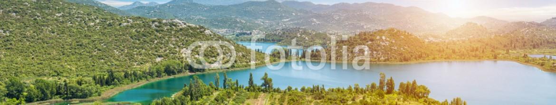 93111170 – Austria – Panoramic view of Bacinska lake in Croatia