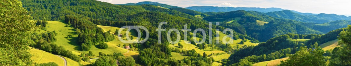 93125032 – Russian Federation – Scenic panoramic landscape: summer mountain valley with forests and fields in Germany, St. Ulrich, Black Forest