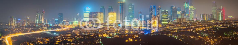 93127437 – Ukraine – Panorama of Istanbul and Bosporus at night