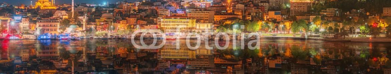 93127622 – Ukraine – Panorama os Istanbul and Bosporus at night