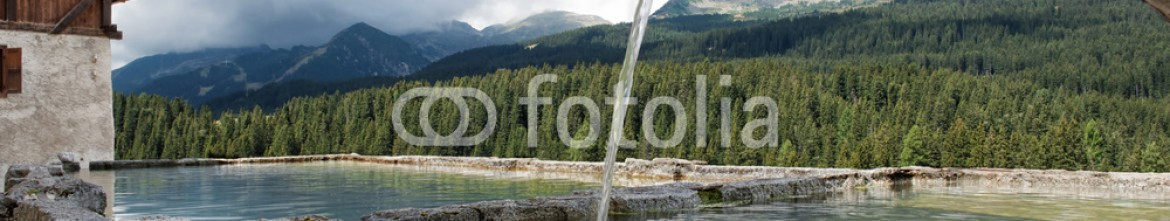93131491 – Italy – Landscape mountain Dolomiti fountain