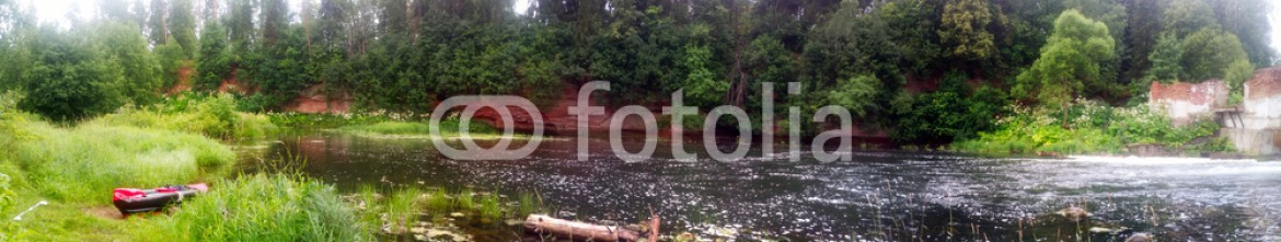 93144358 – Russian Federation – fast river with ancient shores
