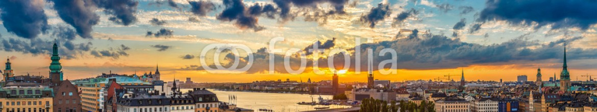 93275080 – Ukraine – Scenic summer night panorama of  Stockholm, Sweden