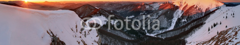 93368540 – Slovakia – Panoramic mountain winter landscape, Slovakia