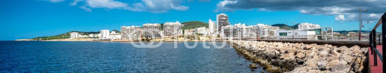 93370415 – Spain – Panorama of Sant Antoni town. Ibiza