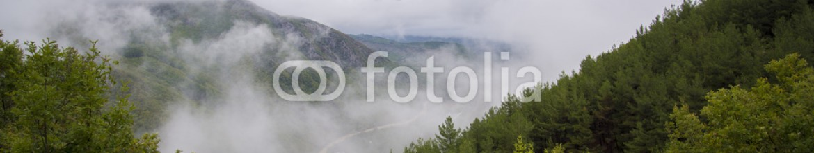 93376662 – Greece –      Fall colors in afternoon fog, Xanthi